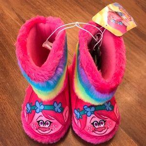 Trolls Slipper Boots Toddler Girl 7/8 NEW